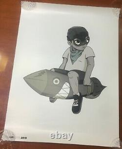 Hebru Brantley TWO POSTER SET18x24in Matte Finish LilMama AND Flyboy RARE FINDS