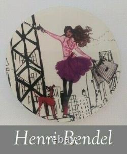 Henri Bendel New York Coaster Set of 6 Zenou Café Party Girl Whippet RARE