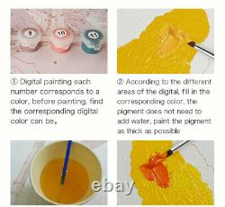 Horse Animal Canvas Art Picture Acrylic DIY Paint Set by Numbers Kits for Adults