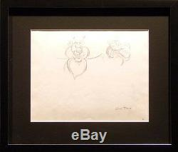 Important Chuck Jones Tiger Original Pencil Drawing 14 Framed piece set L@@K