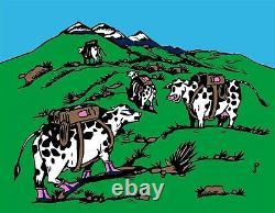 JIM POLLOCK COWS ON VACATION WATERWHEEL CHARITY SET not phish