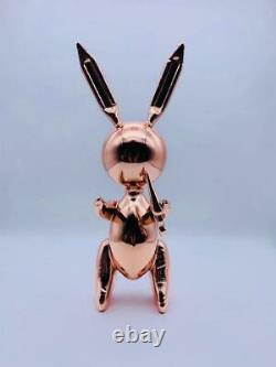 Jeff Koons after Rose Gold Rabbit Balloon Sculpture work certificate set