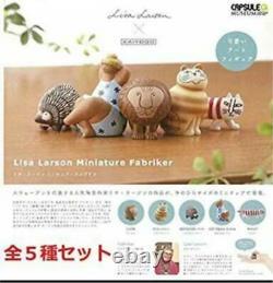 Kaiyodo Lisa Larson Miniature Fabriker Vol. 1 Art Figure Set of All 5 types New