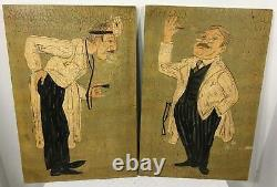 Large Set Of 2 Harris Strong Doctor Office Art Painting Boards Wall Decor