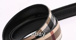 Leather Men Women Lady Designer Luxury Belts Automatic Buckle Jeans Camel Khaki