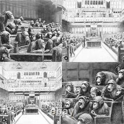 Mason Storm Monkey Parliament FULL SET Signed! (Banksy Devolved Parliament)