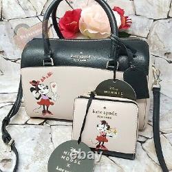 NWT Disney x Kate Spade Minnie Mouse Medium Duffle Continental Wallet Set Bifold