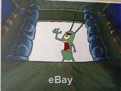 Nickelodeon TV SpongeBob Museum Animation Art Background Cel Set Up #U2