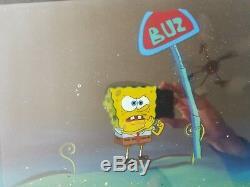 Nickelodeon TV SpongeBob Original Animation Art Master Background Cel Set Up #5