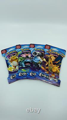Pokemon TCG XY EVOLUTIONS Blister Pack Artset (4 Booster Packs)