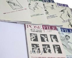 RARE Japanese POSE FILE Books Elte Shuppan Set 1, 2,3,4,7,8 Art Drawing Manga