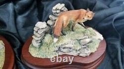RARE SET Boarder Fine Arts hunting Hounds & Fox titled Forrard Away Ltd Edt