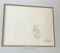 RARE Walt Disney's Duck Tales Framed Production Art & Animation Cel Set OOAK