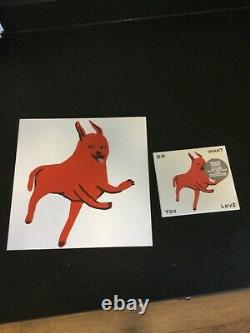 Rare David Shrigley Hand Signed Limited Edition Of 200 Poster And Trunk CD Set