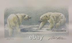 Robert BATEMAN Polar Bear Predator 3 Print art set original Hand Coloured Signed