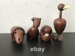 Senshukai Royal Pet Set Animal Wood Vintage Figures 21 pieces