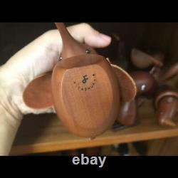 Senshukai Royal Pet set Animal Wooden Vintage Figure Collectible Kokeshi