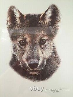 Set Of 3 Carl Brenders Signed Limited Edition Prints / Den Mother / Wolf Family
