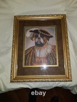Set of 2 framed Pet Portraits by Carol Lew