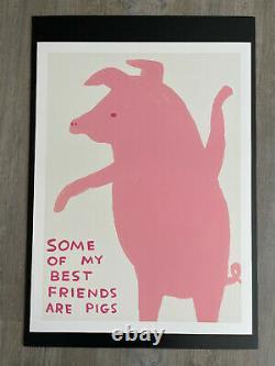 Set of 4 x DAVID SHRIGLEY Animals in Art Posters / Prints 80cm x 60cm