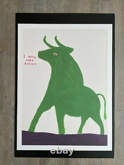Set of 4 x DAVID SHRIGLEY Animals in Art Posters / Prints 80cm x 60cm KEPT FLAT