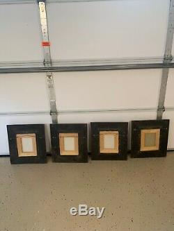 Set of Four (4) Rabbit Bunny Signed Paintings in Ornate Frames