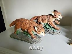 Set of Fox Pups Statues / Art. Made in Taiwan, Appear to be hand painted