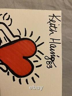 Set of TWO Keith Haring Originals Gallery & Estate Stamp NOT A PRINT