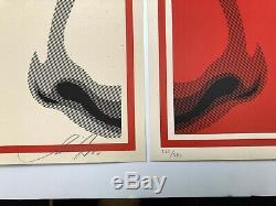 Shepard Fairey EYE ALERT Super Rare SET Excellent. Trusted Seller OBEY