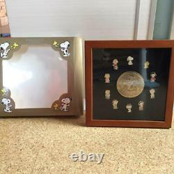 Snoopy Town Shop PEANUTS Pins Set Art Framed 50th Annversary Limited 500