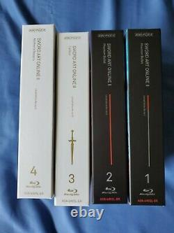 Sword Art Online 2 Limited Edition Blu Ray set 1, 2, 3, 4