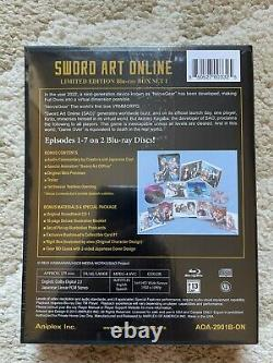 Sword Art Online Limited Edition Part 1 Blu-ray Box Set Aniplex Anime New OOP