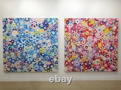Takashi Murakami Shangri-La Blue Pink Print Set Ed 300 Museum Framed Kaikaikiki