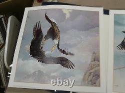 The Story Of An Eagle Mario Fernandez Complete Set 4 Prints & Bronze Sculptures