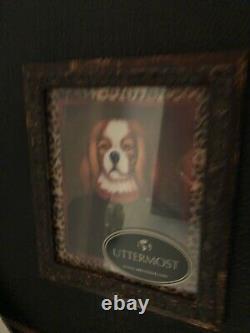 UTTERMOST NWOT Gentlemen Club Dogs Uniforms Framed Art- Set of 5- Retails $350
