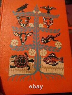Vintage CHILDCRAFT Children Books 1954 Full Set Volumes 1-15 Orange Hardcover