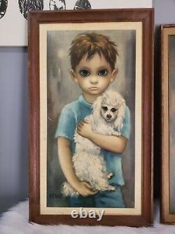 Vintage Margaret Keane The Stray No Dogs Allowed Set Walter big eyes