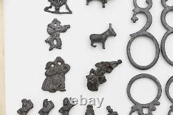Vintage Portfolio Set of a Jewelry Designer, Original Drawings, Lead Animals