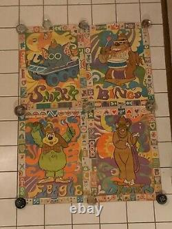 Vintage Set 4 BANANA SPLITS Posters Hanna-Barbara Productions 21X28 RARE 1970s