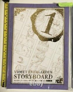 Violet evergarden movie limited & vol1 story board set art book kyoto animation
