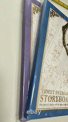 Violet evergarden story board vol 1 2 set kyoto animation art book anime kyoani