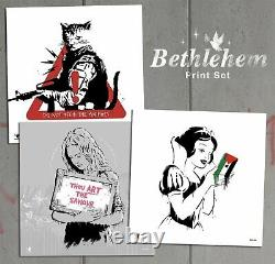 Zedsy Bethlehem Print Set Poison Reality Savior Animals Banksy Walled Off